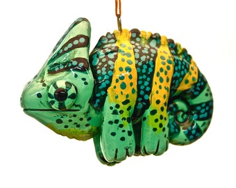 Veiled Chameleon Christmas Ornament