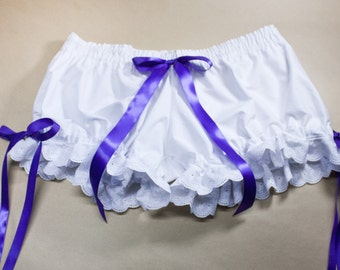 White Cotton Muslin Bloomers - Made to Order