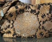 Hobo Style Purse Golden Medallion Tapestry