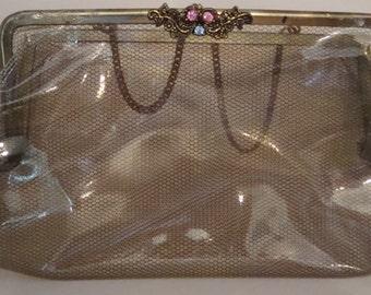 Clutch purse clear plastic