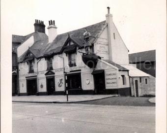 Vintage Photo, Crown and Anchor Hotel, England, Black & White Photo, Vacation Photo, Travel Photo, Snapshot, Found Photo