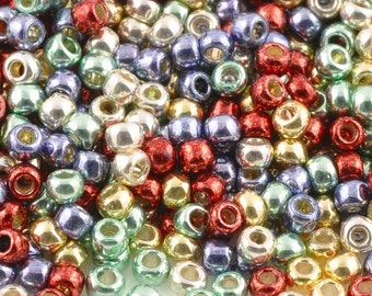 Seed Beads-11/0 Round-PF42 Permanent Finish-Metallic Fusion-Toho-16 Grams