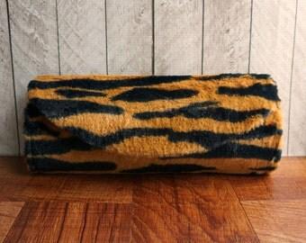 Tiger print clutch purse, orange and black stripes, Tiger clutch, Animal print clutch bag,