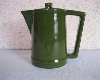 Hall's Restaurant Ware Green Tea Pot / Super Ceram Line / Vintage One Serving Tea Pot