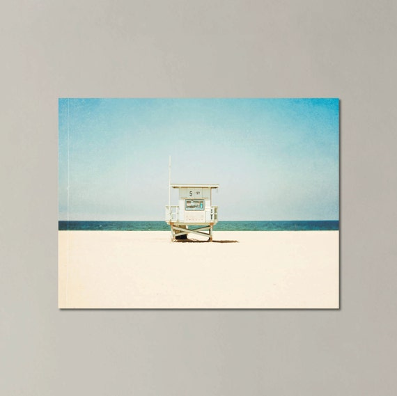 Large Beach Art, 5th Street, Large Canvas Gallery Wrap, California, Hermosa Beach, Beach Decor, Lifeguard Tower, Los Angeles, Coastal