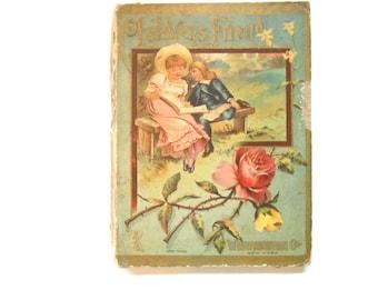 Vintage Children's Book, Children's Friend, 1886, Beautifully Illustrated