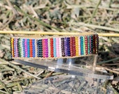 "Colorful ""RagRug"" look cuff bracelet"