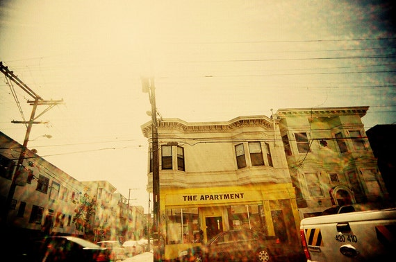 Colour Photography, Bright, Cheery, Happy ,Colourful, Lomo, Fine Art Print, San Francisco, Retro Style, Yellow, Sunshine