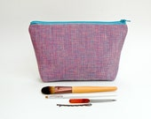 Irridescent Pink Purple and Blue Makeup Bag - Large Zipper Pouch