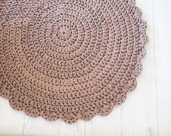 Crochet rug , crochet carpet , round rug , bath mat , kids rug , handmade carpet , crochet carpet