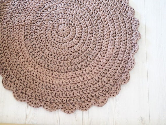 Crocheting Round Rugs : Crochet rug , crochet carpet , round rug , bath mat , kids rug ...