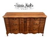 French Provincial Dresser Wood Finish Original Or Pick Your Color Vintage Painted Cottage