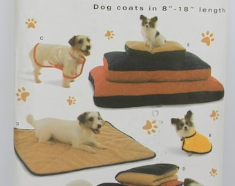 Dog Size Small Medium Large (See Pic 2) Simplicity 5219 Dog Coat Bed Blanket Cushion Pillow Pet Puppy  Uncut Sewing Pattern