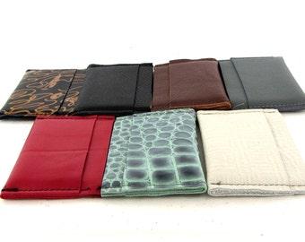 RFID Card Holder / RFID Leather Card Holder / RFID Leather Credit Card Holder / Leather Credit Card Wallet / Card Wallet