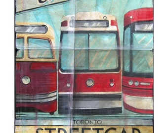 Evolution of the Streetcar (Toronto) - Giclée by Rob Croxford