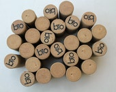 Eco friendly Craft Corks - 100% Recyclable Wine Corks - wine cork crafts - DIY supply - 24 recycled corks