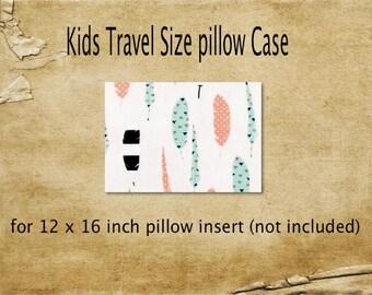Pillowcase,travel size pillowcase, feathers pillowcase, kids pillowcase