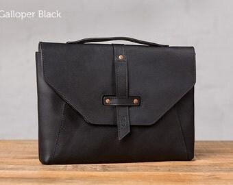 Valet Luxury Laptop Bag for Macbook 12inch - Galloper Black