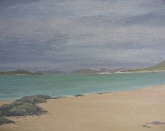Isle of Harris Traigh Nisabost  Outer  Hebrides oil painting