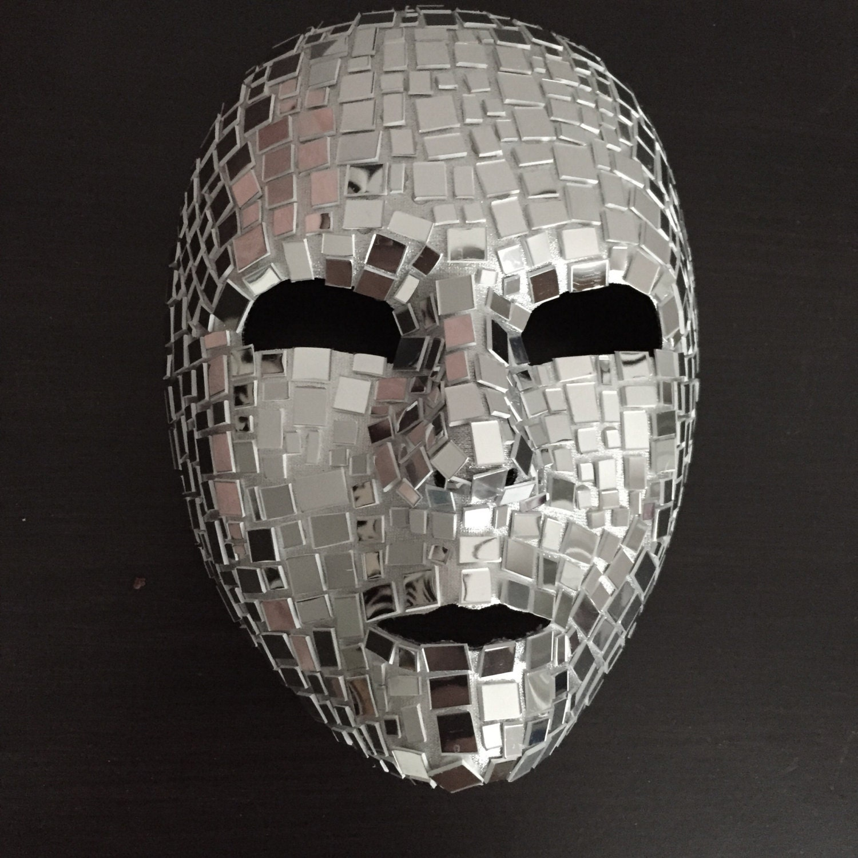 Mosaic mirror mask full face for Miroir en plastique