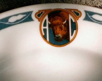 Vintage Syracuse Buffalo Athletic Club China Plates Lot of 4