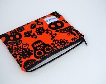 Reusable Snack Bag,  Zippered Bag, Handmade and Ready To Ship