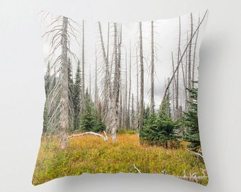 Pillow Cover, Scenic, Mountain Meadow, Decorative Throw Pillow Cover, Blue, Mountain, fPOE, 16x16, 18x18, 20x20