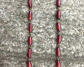 Infinity Necklace in Cherrywood