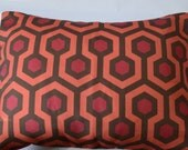 Coral/Dark pink/Brown Hexagonal design pillow covers