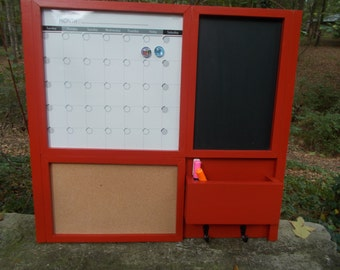 All In One Command Center/Kitchen organizer/ Magnetic Calendar/ Message Center /Office Decor /Family Message Board