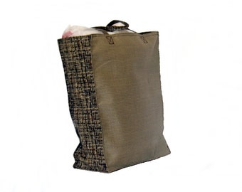 Shopping Bags, Canvas,  Reusable, Brown weave