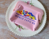 Vintage World Expo 88 Coin Purse in Pink