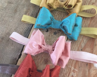 Little pigs piggie tail bow clips or headbands by cozette couture