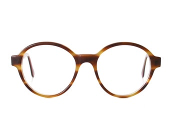 oversized round glasses - honey brown vintage eyeglasses - large vintage eye glasses frames for men and women unisex - Bowie Pop Miel