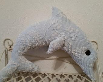 Dolphin vintage chenille bedspread