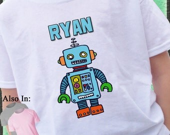 ROBOT Shirt Personalized with name I love Robots Irobot