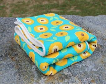 Baby Girl Blanket - Aqua - Organic Blanket - Organic Cotton