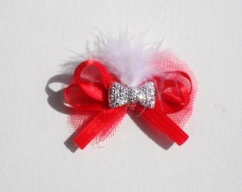 Dog Grooming Bow Red dog bows