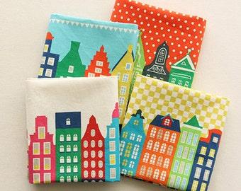 Cotton Linen Fabric Cloth -DIY Cloth Art Manual Cloth -Nordic Small House  55x19 Inches