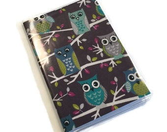 Passport Cover Owls on a Branch