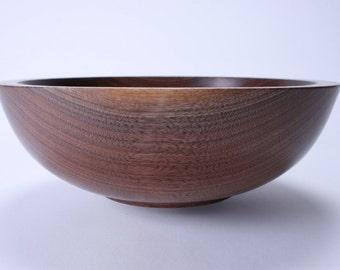Wild Black Walnut Wooden Salad Bowl 1361
