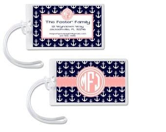 Monogram Anchor Luggage Tag Bag Tag