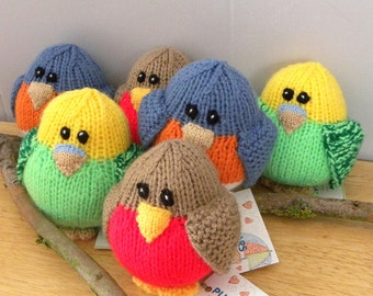 Hand Knitted Bird - CE Marked Toy - Knitted Toy for Babies and Children