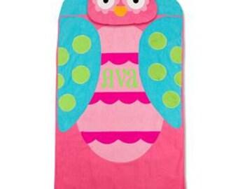 Personalized Stephen Joseph Nap Mat OWL Nap Mat TODDLER PRESCHOOL Girls Nap Mat