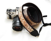 Ready to ship -  Best camera strap for DSLR - Sand forest