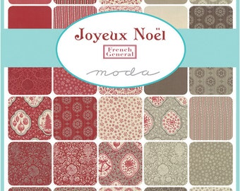JOYEUX NOEL - Fat Quarter Bundle - by French General for Moda Fabrics - 32 FQs