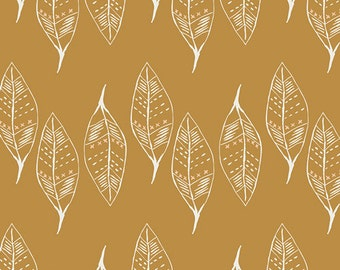 Gust of Leaves Gold  WAN-23305 - WANDERER by April Rhodes - Art Gallery Fabrics  - By the Yard