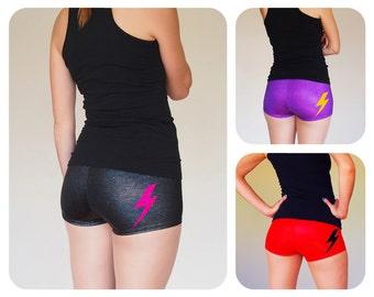 Sparkly Lightning Bolt Roller Derby Shorts - Pre-Order