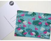 Postcard Art Print Card Illustration FLAMINGO by Maedchenwahn