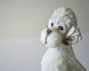 Vintage Porcelain Poodle, Dog